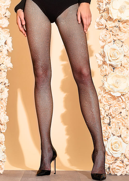 Trasparenze Gardenia Lurex Fishnet Tights