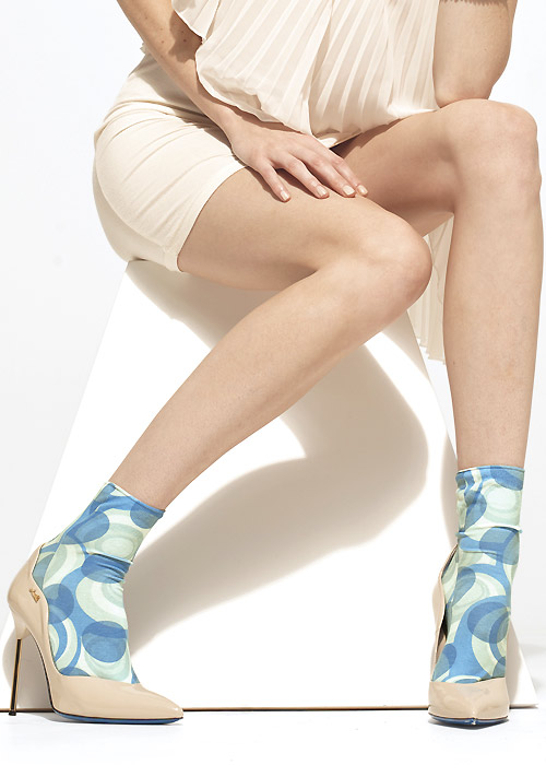 1950s Socks- Women's Bobby Socks Trasparenze Iris Socks £10.99 AT vintagedancer.com