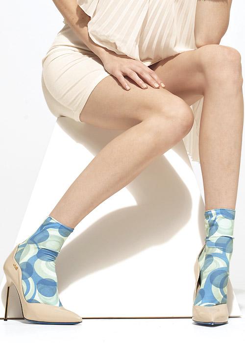 Vintage Socks | 1920s, 1930s, 1940s, 1950s, 1960s History Trasparenze Iris Socks £10.99 AT vintagedancer.com
