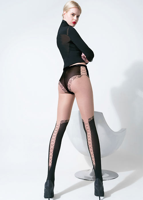 Steampunk Tights  & Socks Trasparenze Larnaca Tights £9.99 AT vintagedancer.com