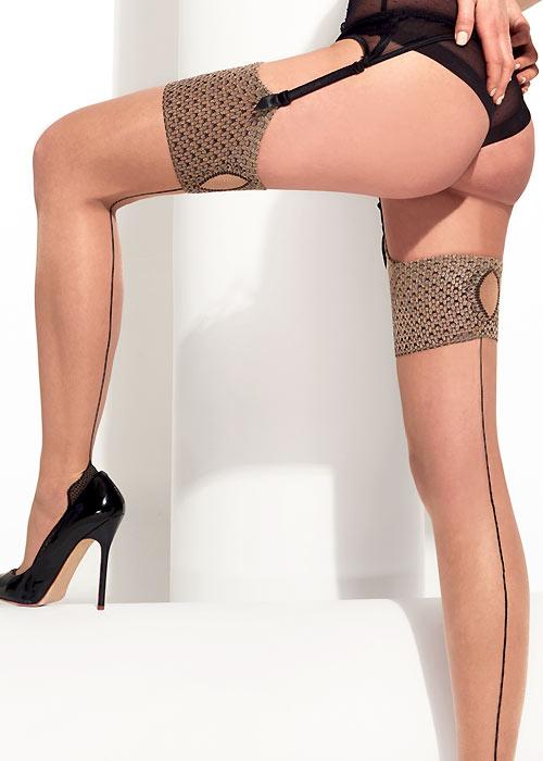 Seamed Stockings, Nylons, Tights Trasparenze Lewis Fashion Stockings £15.99 AT vintagedancer.com