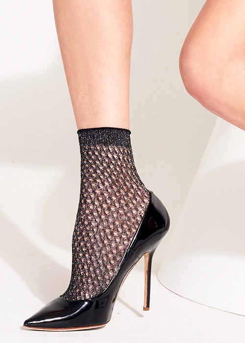 Trasparenze Renoir Lurex Mesh Ankle Highs