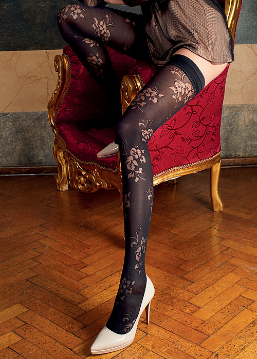 Trasparenze Rose Fashion Hold Ups