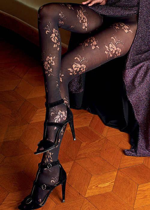 Trasparenze Rose Fashion Tights