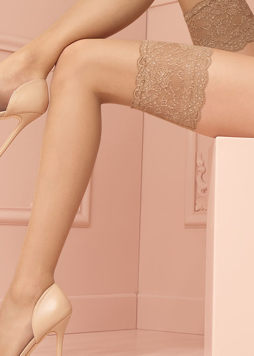 Trasparenze Voile Lustre 8 Ultra Sheer Hold Ups Zoom 3