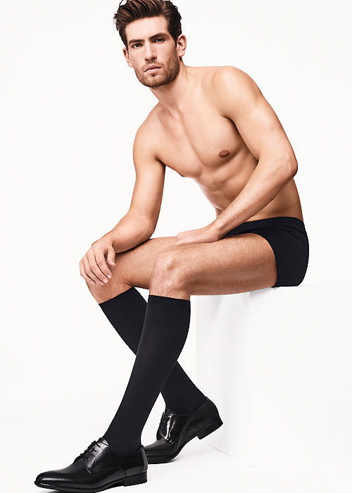 Wolford Cotton Velvet Mens Knee Socks