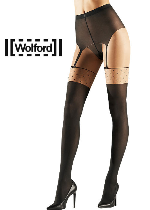 f4af7d4b484 Wolford Daphne Mock Suspender Tights In Stock At UK Tights