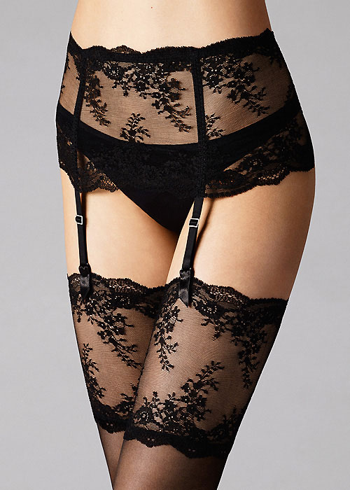 Wolford Filigra Lace Suspender Belt