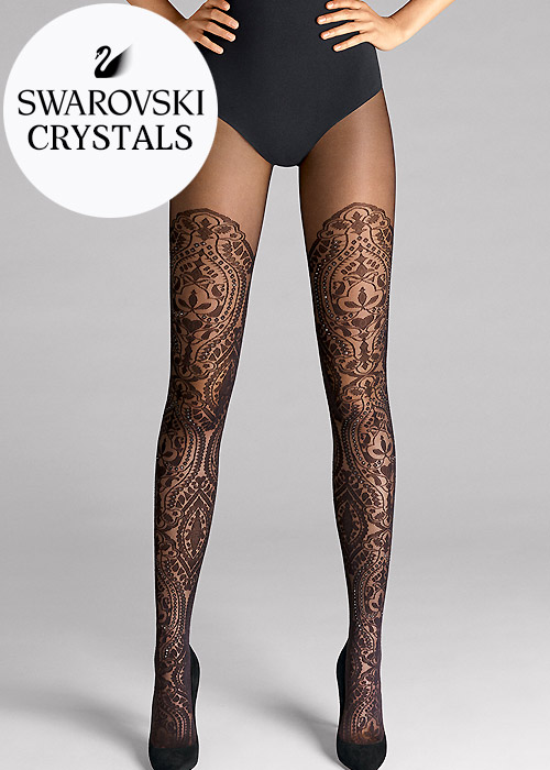 Vintage Inspired Lingerie Wolford Henna Sparkle Tights £129.99 AT vintagedancer.com