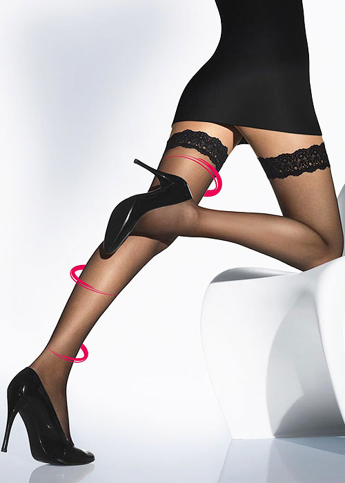 Wolford Individual 10 Medium Support Hold Ups