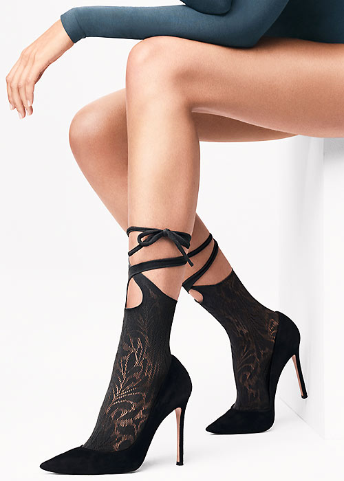 Wolford Iris Ankle Highs
