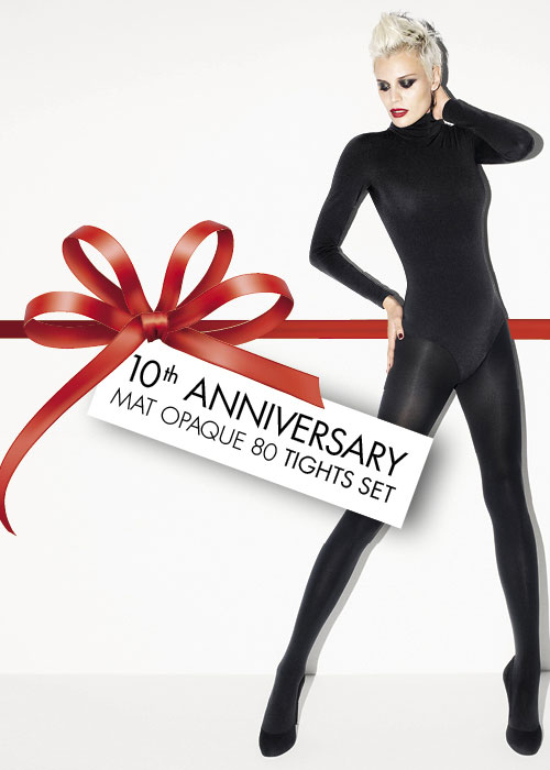Wolford Mat Opaque 80 Denier Tights Set 2 Pair Pack