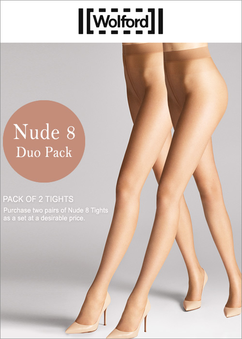 2f0d90ede75 Wolford Nude 8 Duo Pack In Stock At UK Tights
