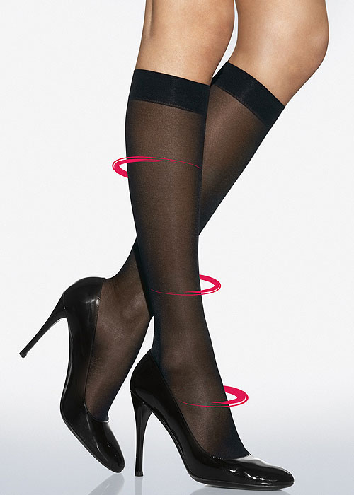 Wolford Pure Energy 30 Leg Vitaliser Knee Highs