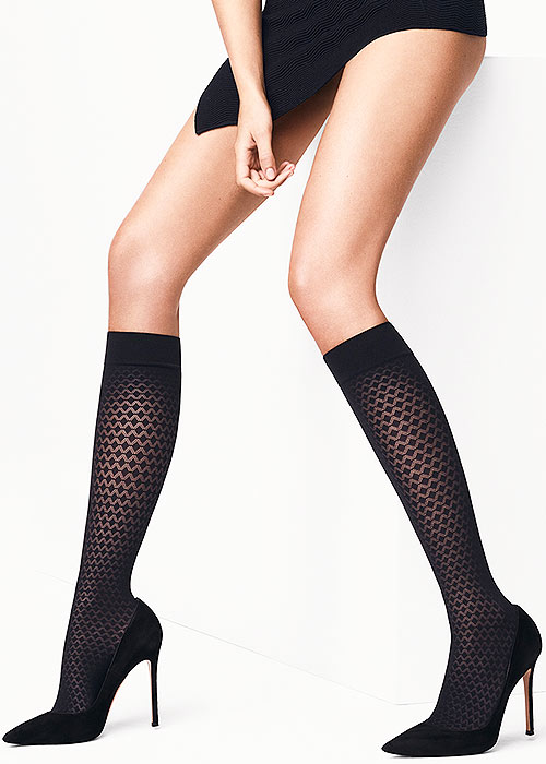 Wolford Rhomb Knee Highs