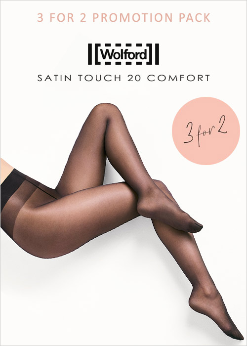Wolford Satin Touch 20 Comfort Tights 3 For 2 Promotion