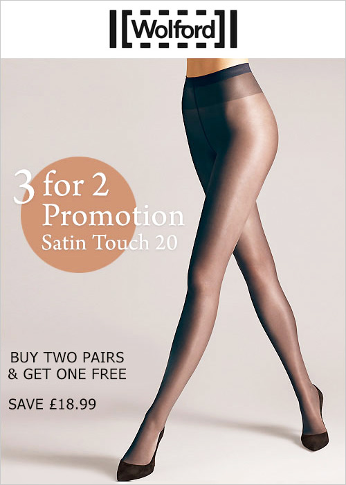 2a3f317226836 Wolford Satin Touch 20 Tights 3 For 2 Promotion In Stock At UK Tights
