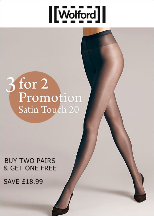 Wolford Satin Touch 20 Tights 3 For 2 Promotion