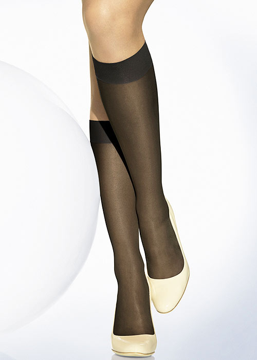 Seamed Stockings, Nylons, Tights Wolford Sheer 15 Knee Highs £11.99 AT vintagedancer.com