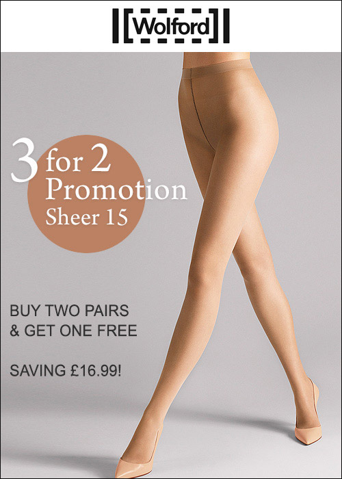 Wolford Sheer 15 Tights 3 For 2 Promotion