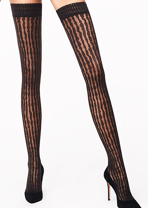 Wolford Stripes Hold Ups