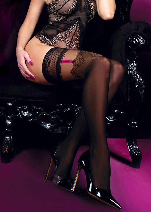 Ballerina Sheeana Suspender Lace Top Hold Ups