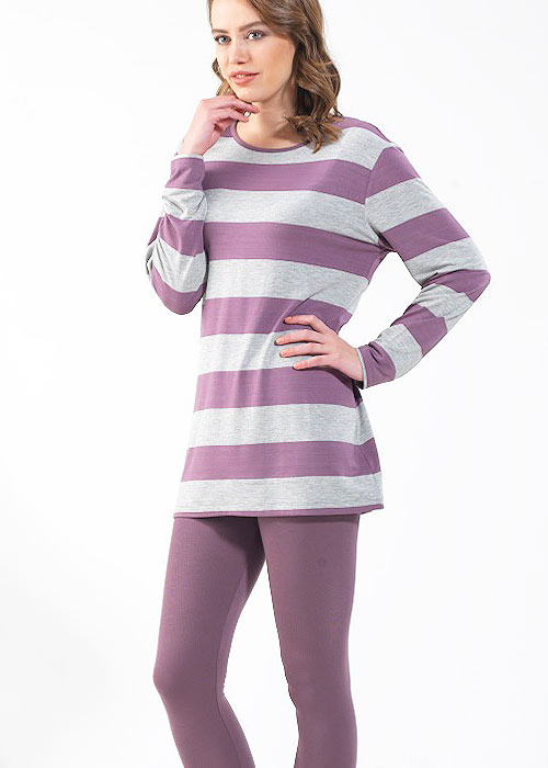 Blackspade Stripe Long Pyjama Set Zoom 2
