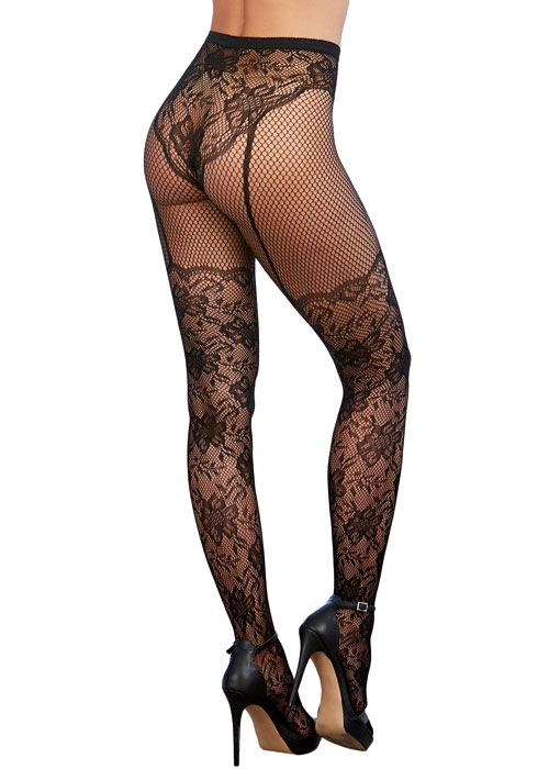 Dreamgirl Lace Fishnet Pantyhose Zoom 2