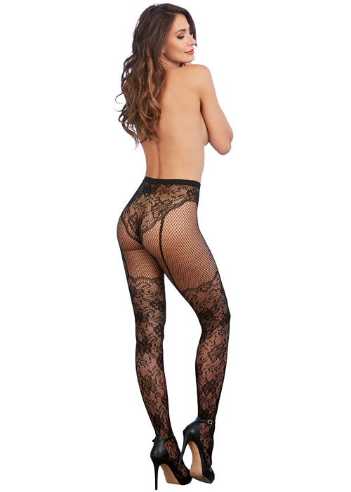 Dreamgirl Lace Fishnet Pantyhose Zoom 3