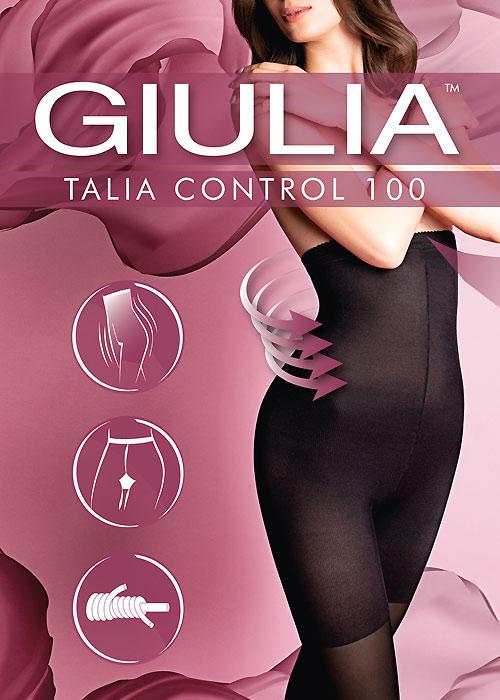 Beige Marylin Talia Contro Visone Tights 20 Denier Slimming High Waist Black
