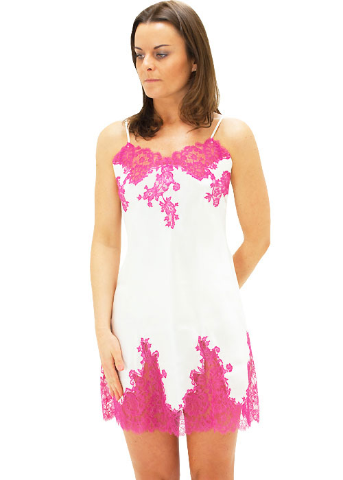 Marjolaine Silk French Lace Chemise