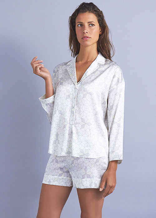 Mimi Holliday Panarea Silk Shortie Pyjama Set