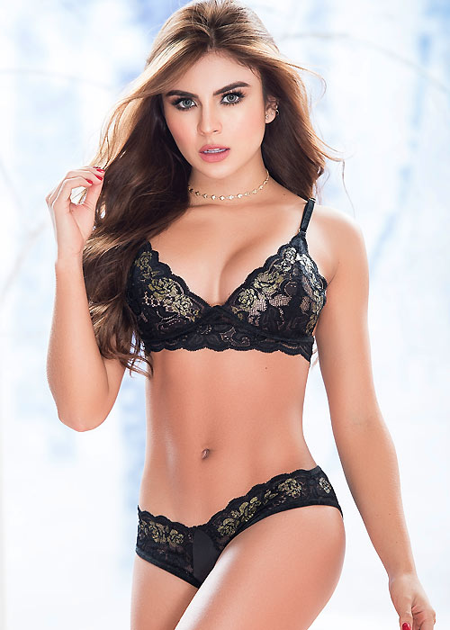 Mapale Luxurious Romance Lace Bra With Matching Brief