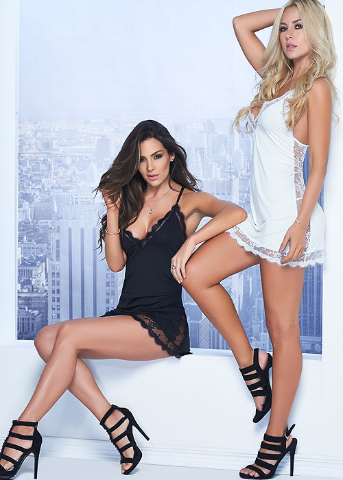 Mapale Most Loved Lace Babydoll With G-String
