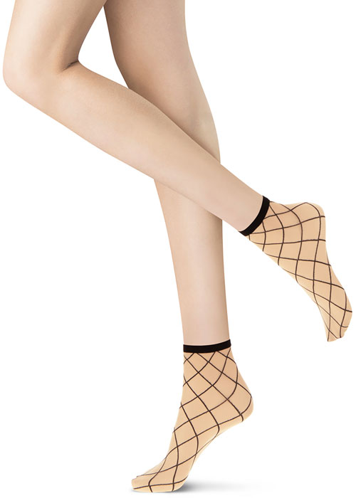 Oroblu Twins Netting Socks 2PP