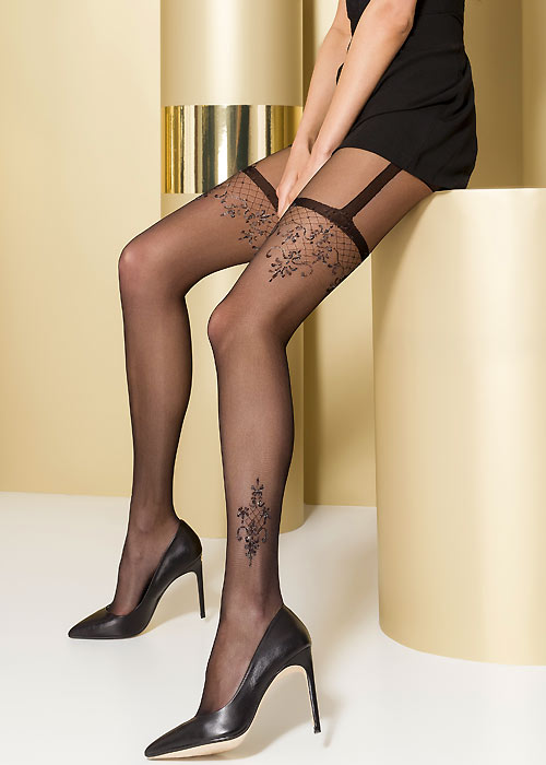 Passion April Mock Suspender Tights