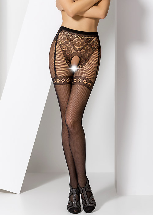 Passion Candice Crotchless Fishnet Tights