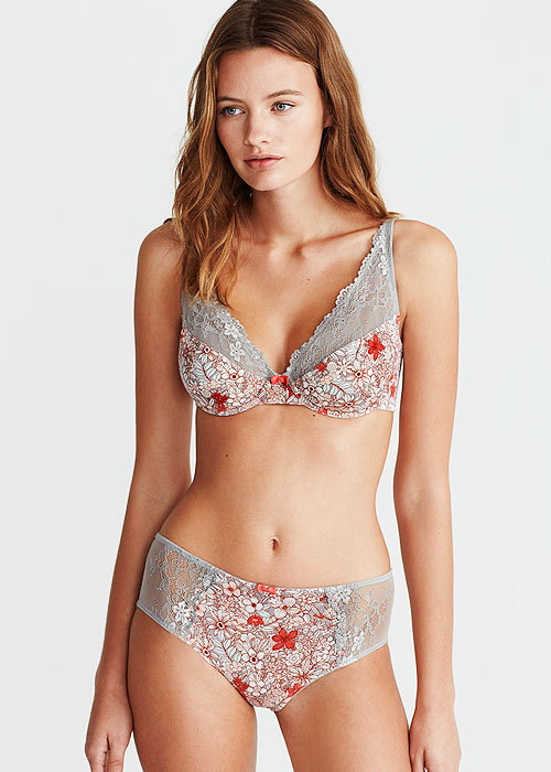 Promise Tisbe Flora Soft Cup Bra With Matching Brief