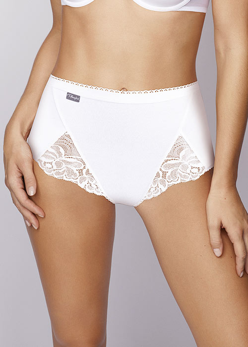 Playtex Cotton And Lace Maxi Briefs 3PP