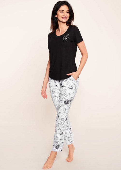 Rosch Be Happy Flower Line Pants Zoom 2