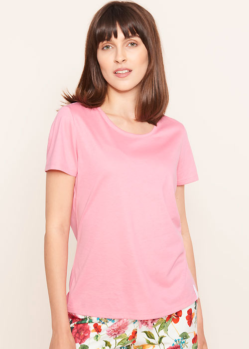 Rosch Be Happy Pink Short Sleeve Top