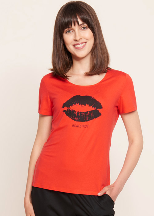 Rosch Be Happy Sweet Kiss Short Sleeve Top