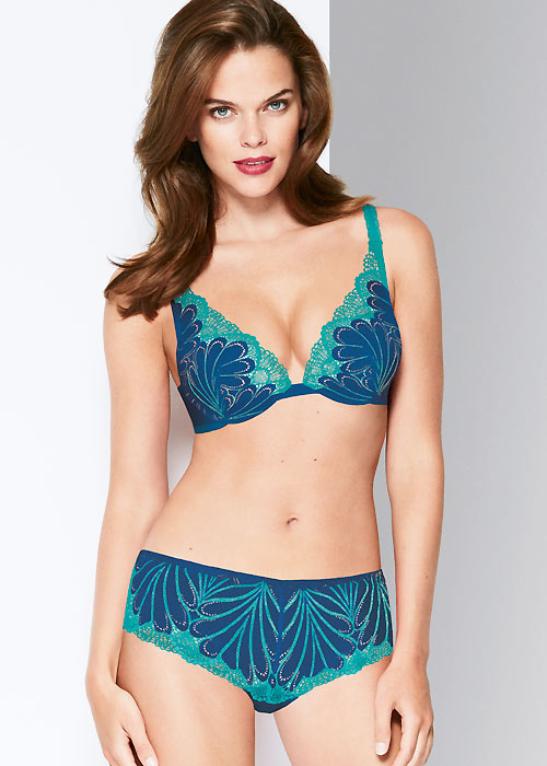 Wonderbra Refined Glamour Blue Triangle Bra Zoom 2