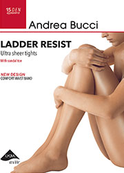 Andrea Bucci 15 Denier Ladder Resist Tights Zoom 1