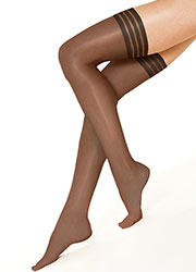 Andrea Bucci Barely There Ladder Resist Ultra Sheer Hold Ups Zoom 2