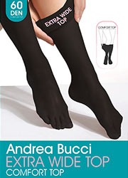 Andrea Bucci Extra Wide Comfort Top Opaque Knee Highs