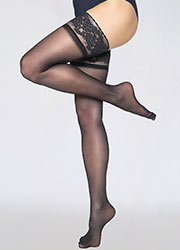 Andrea Bucci Gloss Luxury Lace Top Hold Ups Zoom 1