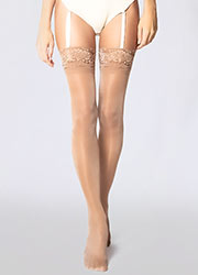 Andrea Bucci Gloss Luxury Lace Top Stockings