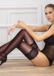 Andrea Bucci Silk Lace Top Hold Ups Zoom 3