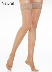 Andrea Bucci Silk Lace Top Hold Ups Zoom 2
